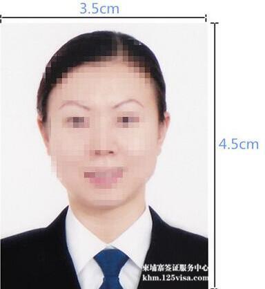柬埔寨签证材料照片模板