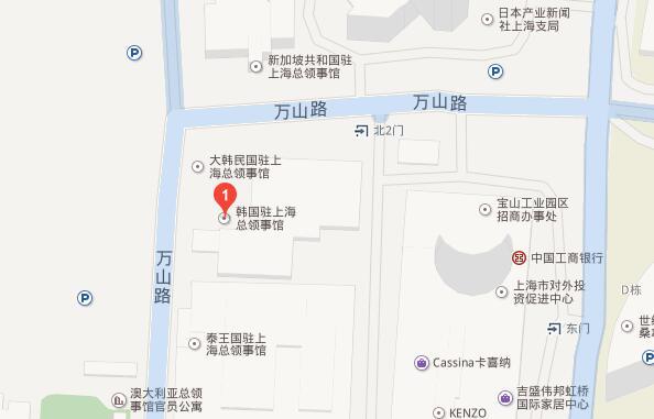 韩国驻上海总领事馆地理位置