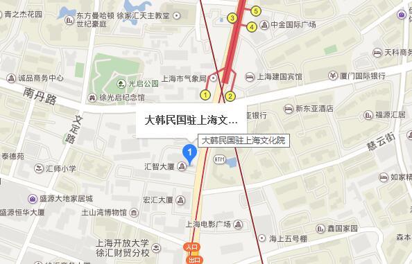 韩国驻上海文化院地理位置