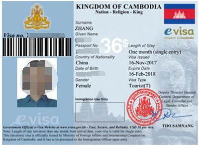 郭先生不辱使命成功办理柬埔寨电子签证